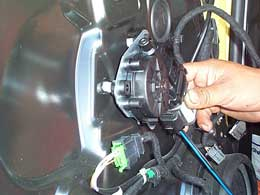 Installing motor and drive assembly