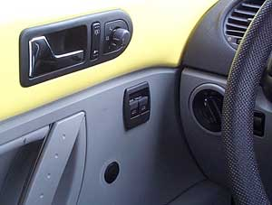 finised power windows in New Style Volkswagen Beetle