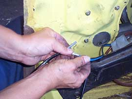 attaching wiring to electric regulator