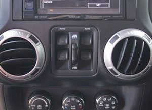 Power windows in Jeep Wrangler JK