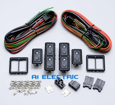 a1 electric online store spal 33040147x2 4 door power window switch kit rh a1electric com 5 Pole Relay Wiring Diagram GM Power Window Wiring Pinout