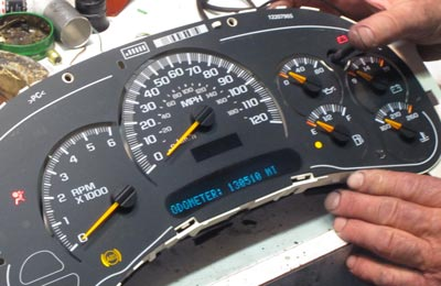 chevy impala instrument cluster repair